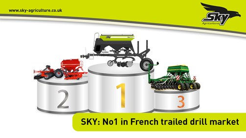 SKY: No 1 in French trailed drill market